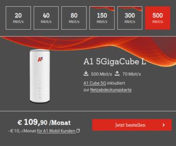 A1 Cube 5G Mobile Internet Boxen