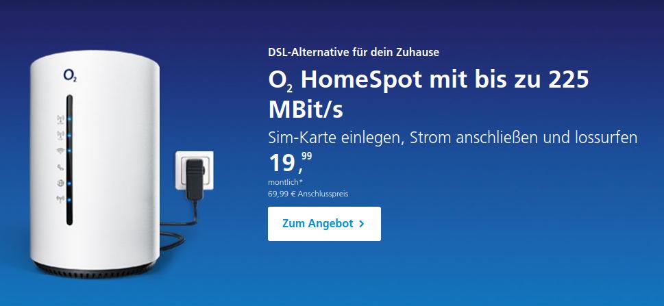O2-kabelloser dsl Anschluss Angebot